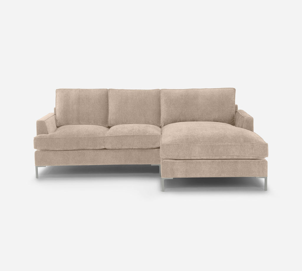 Soho LAF Sectional Apt Sofa w/ Chaise - Passion Suede - Camel