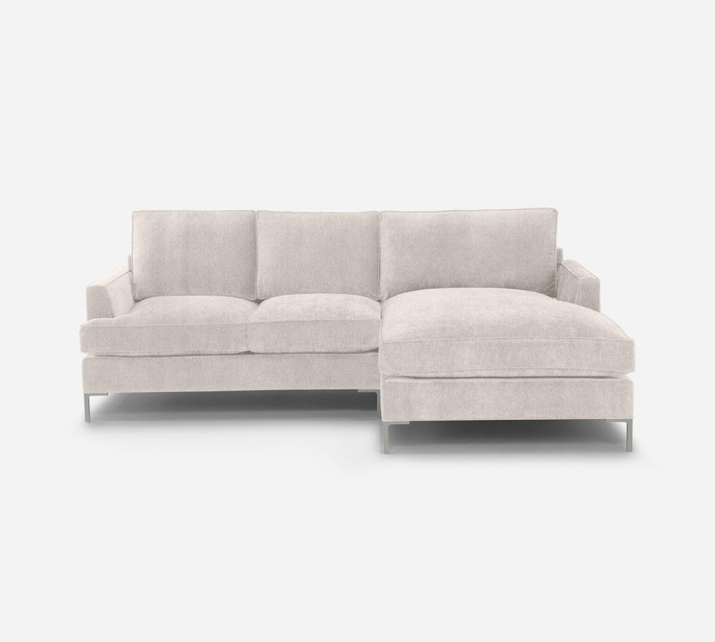 Soho LAF Sectional Apt Sofa w/ Chaise - Passion Suede - Oyster