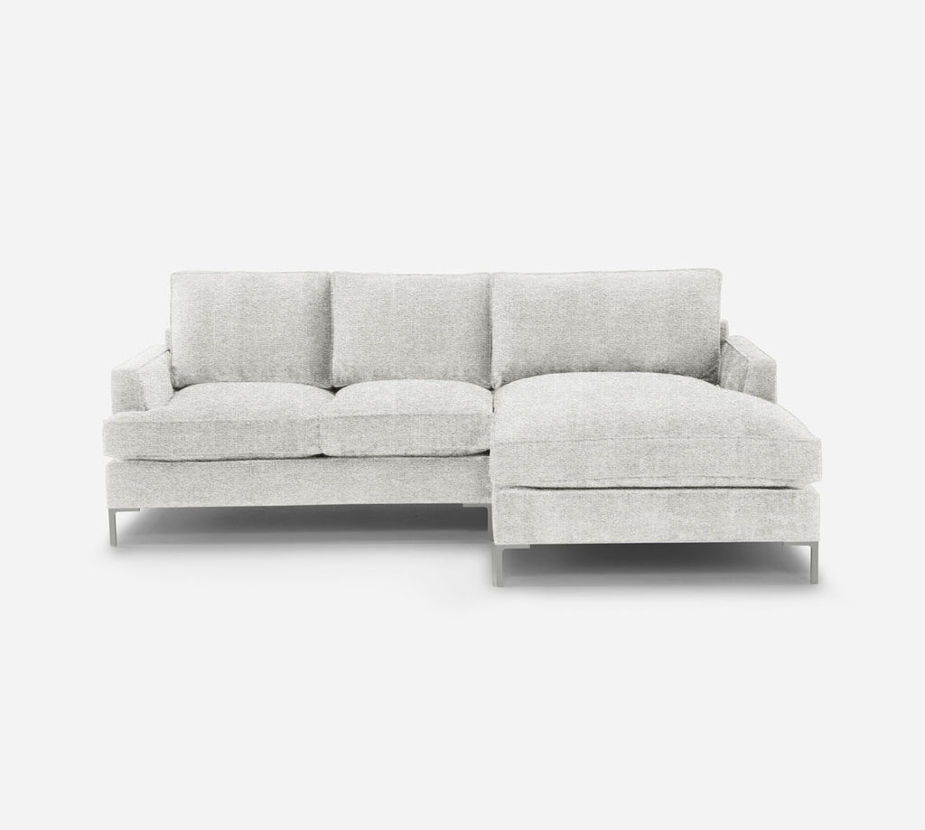 Soho LAF Sectional Apt Sofa w/ Chaise - Stardust - Ivory