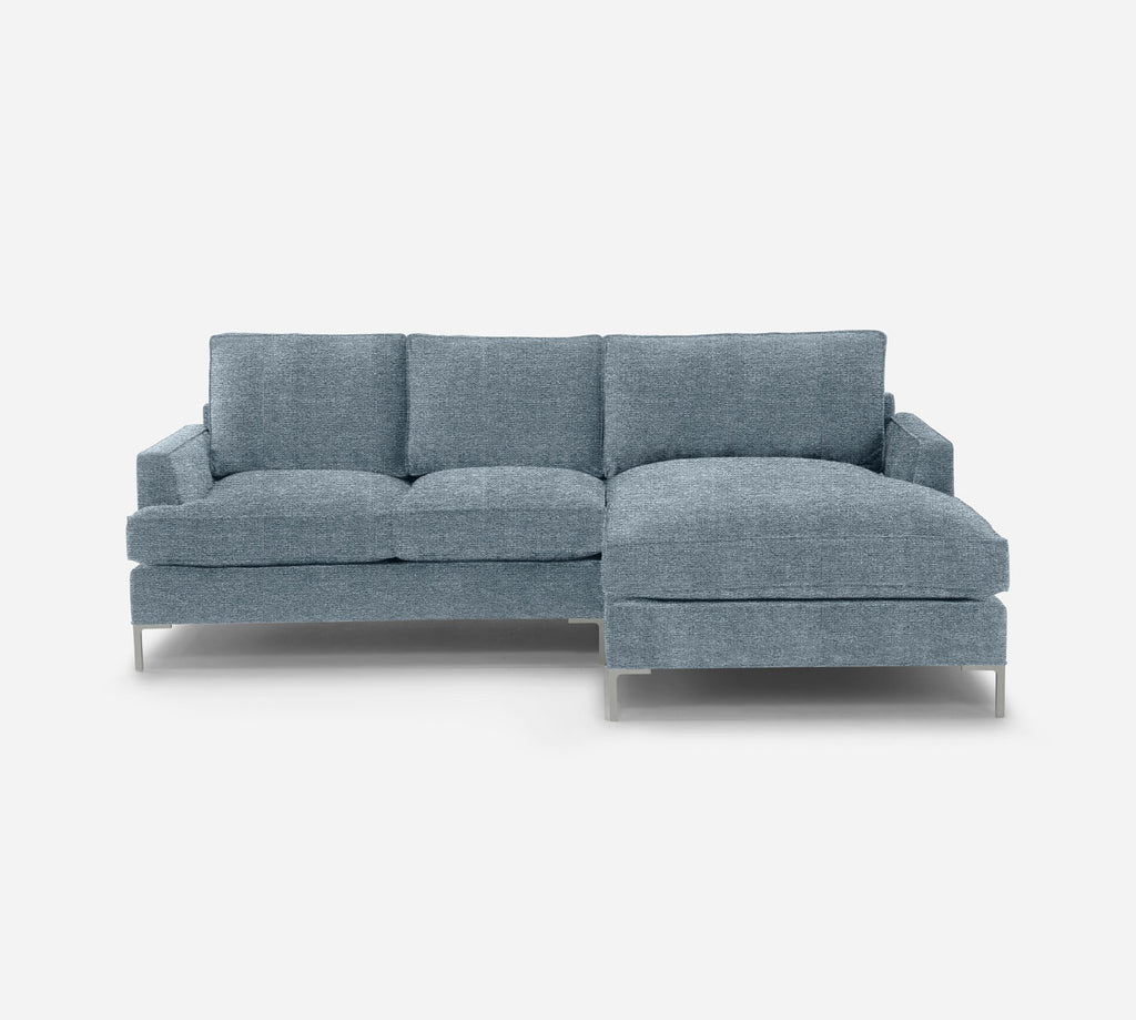 Soho LAF Sectional Apt Sofa w/ Chaise - Stardust - Lapis