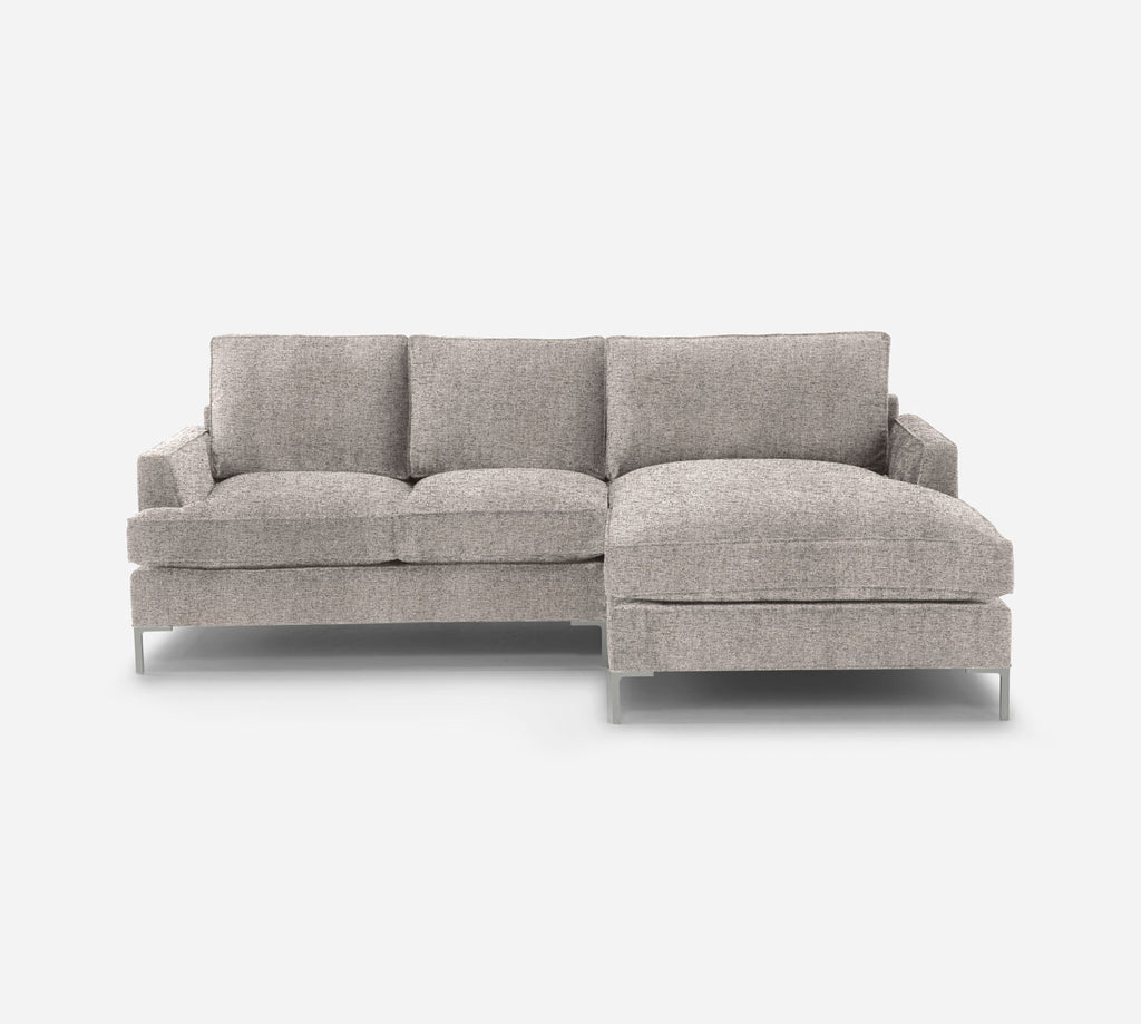 Soho LAF Sectional Apt Sofa w/ Chaise - Theron - Oyster