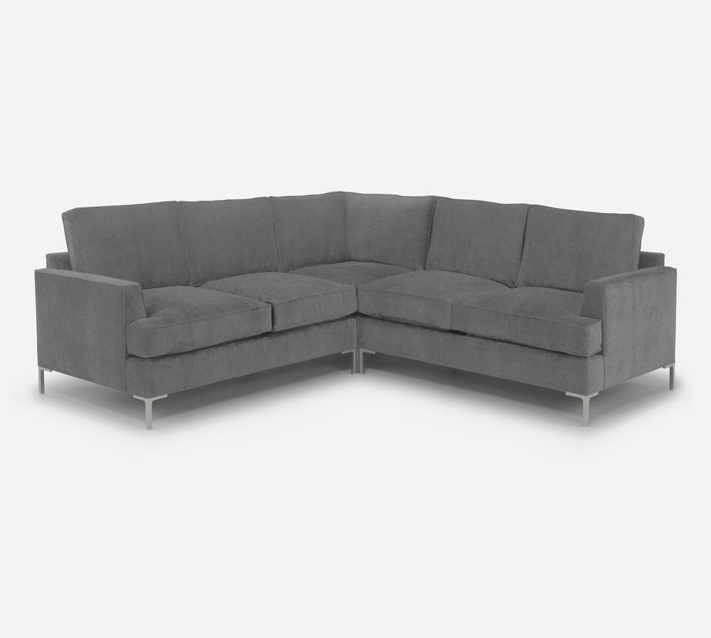 Soho Corner Sectional - Passion Suede - Charcoal