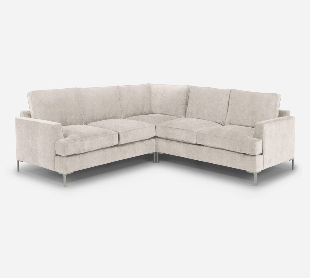Soho Corner Sectional - Passion Suede - Oyster