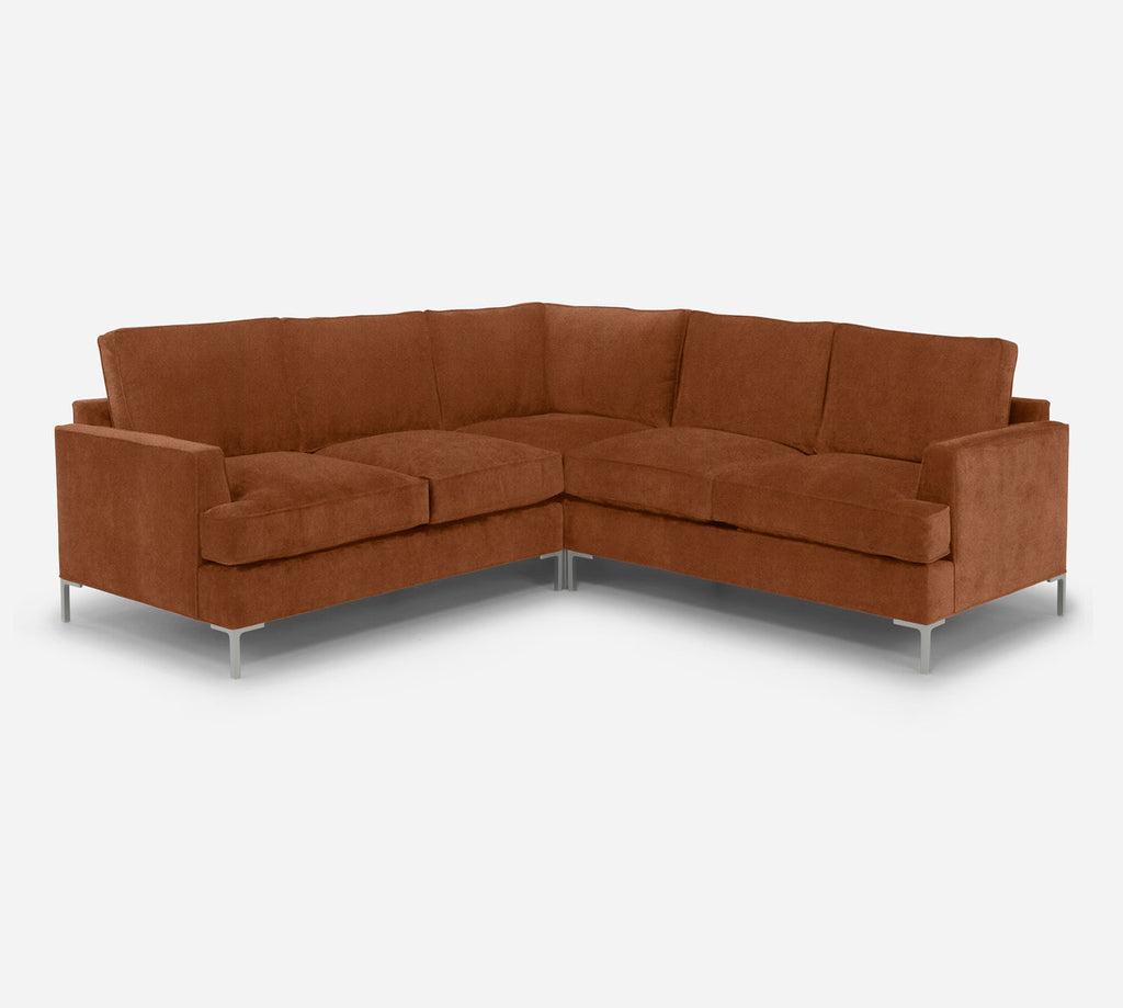 Soho Corner Sectional - Passion Suede - Rust