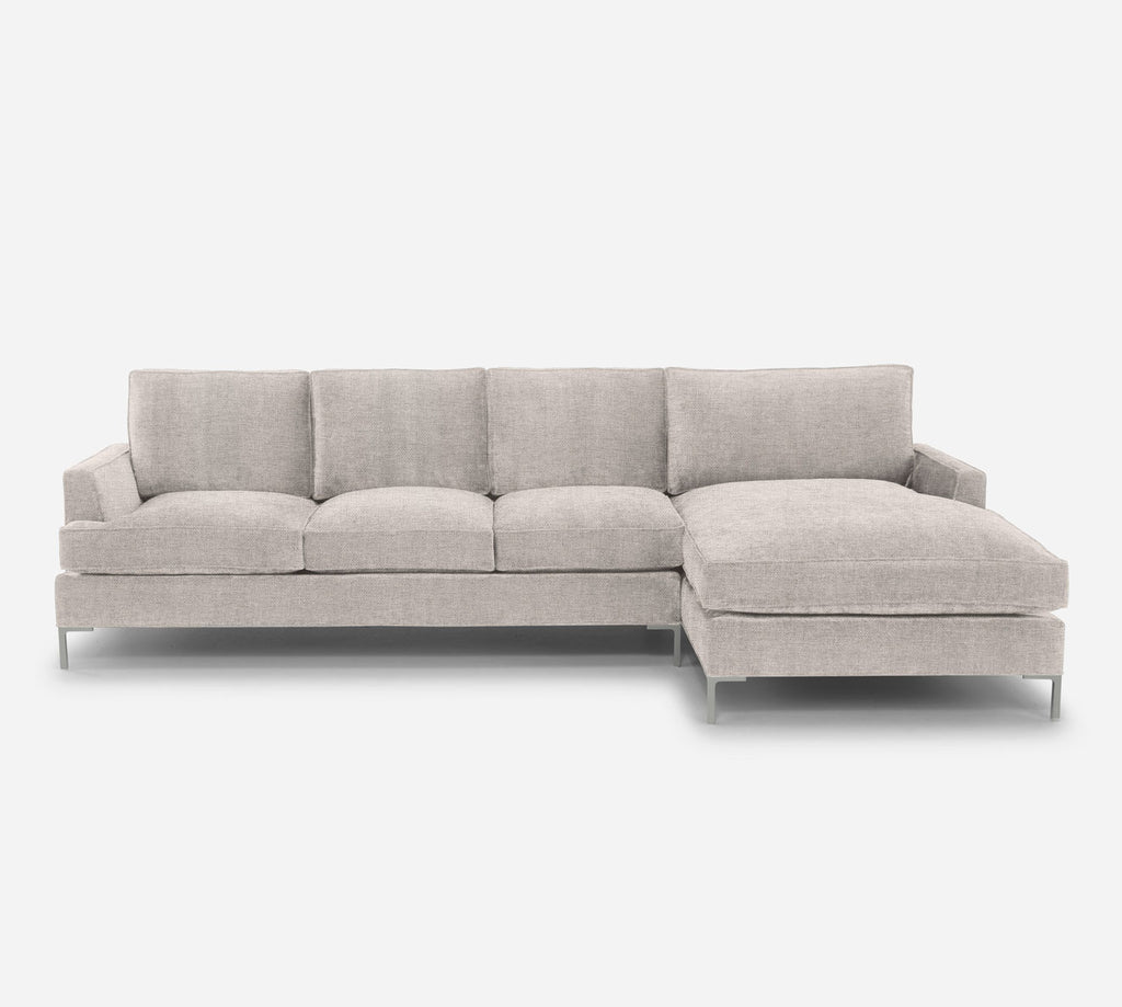 Soho LAF Sectional Sofa w/ Chaise - Coastal - Sand