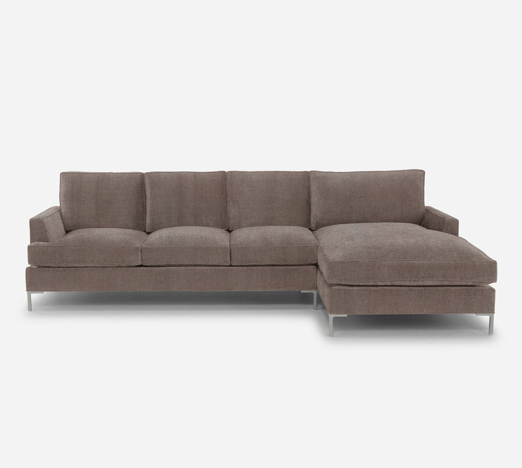 Soho LAF Sectional Sofa w/ Chaise - Heritage - Pebble