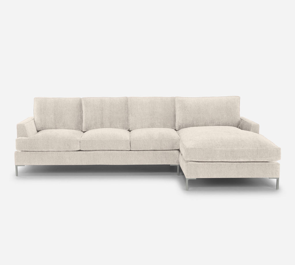 Soho LAF Sectional Sofa w/ Chaise - Kenley - Canvas