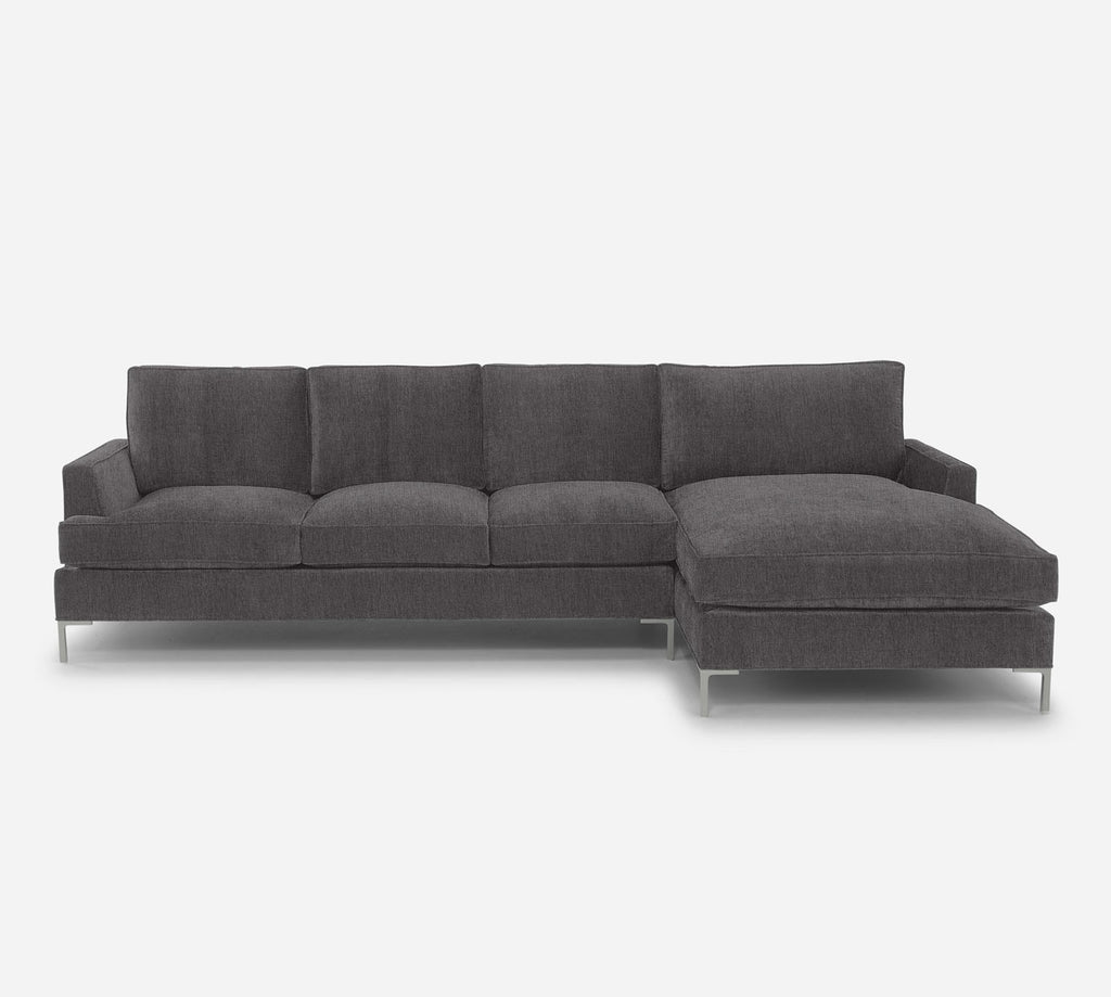 Soho LAF Sectional Sofa w/ Chaise - Kenley - Silversage