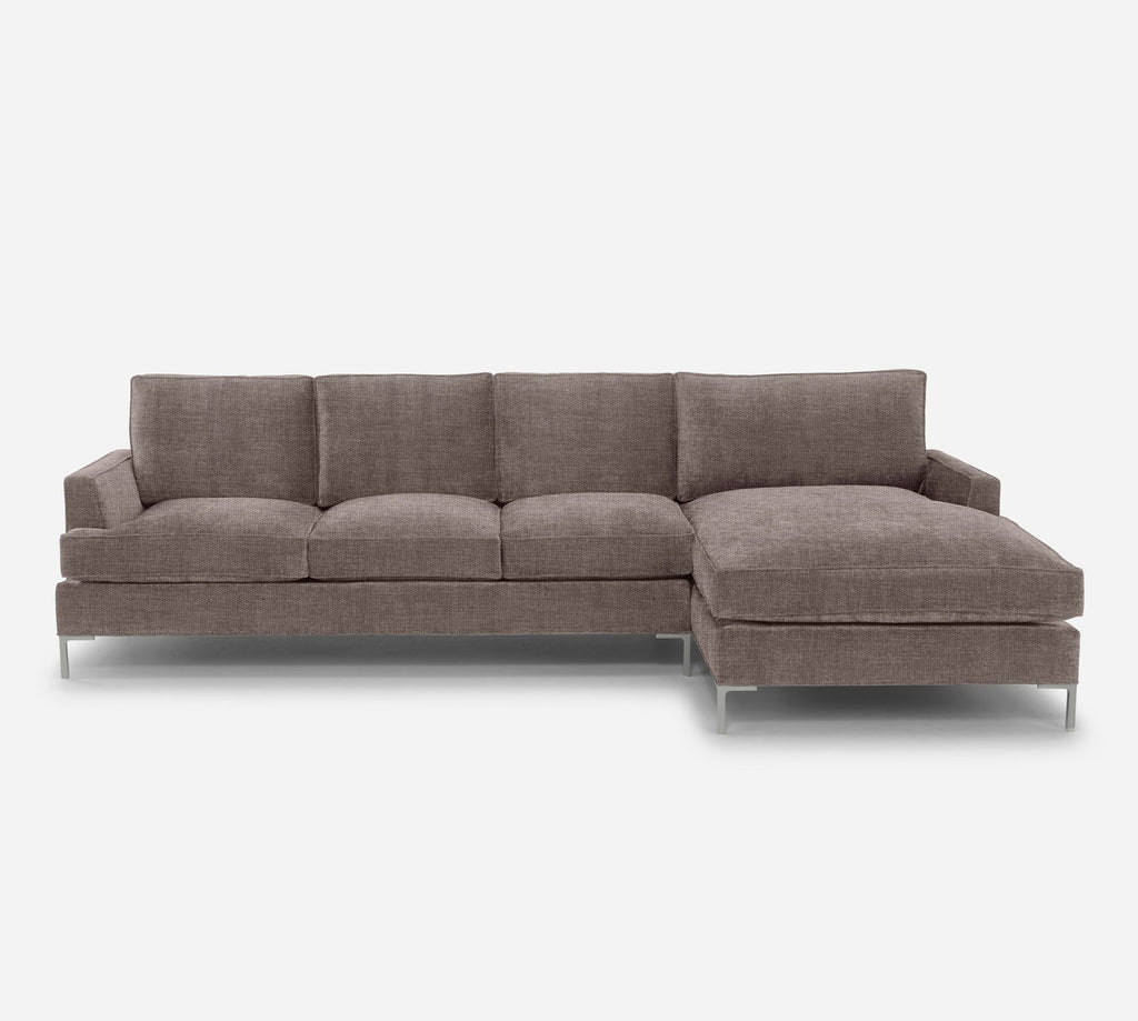 Soho LAF Sectional Sofa w/ Chaise - Key Largo - Pumice