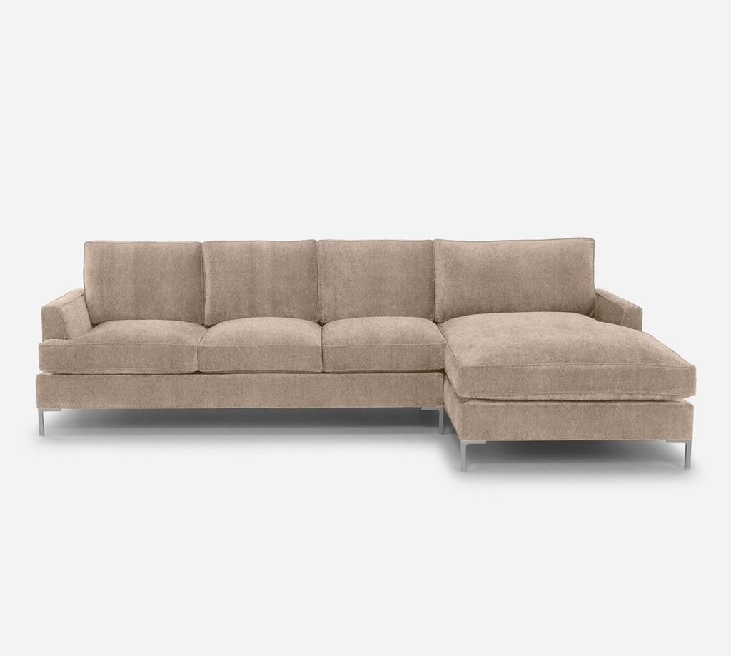 Soho LAF Sectional Sofa w/ Chaise - Passion Suede - Camel