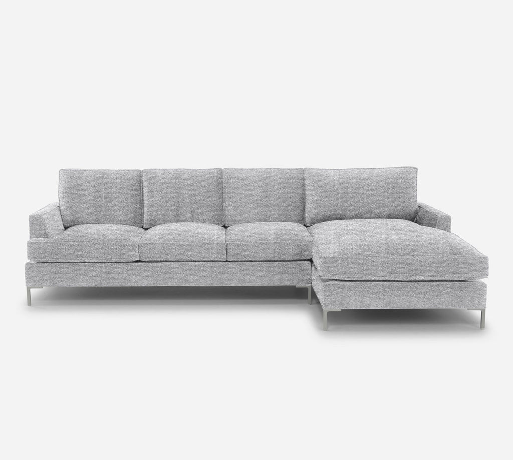 Soho LAF Sectional Sofa w/ Chaise - Stardust - Domino