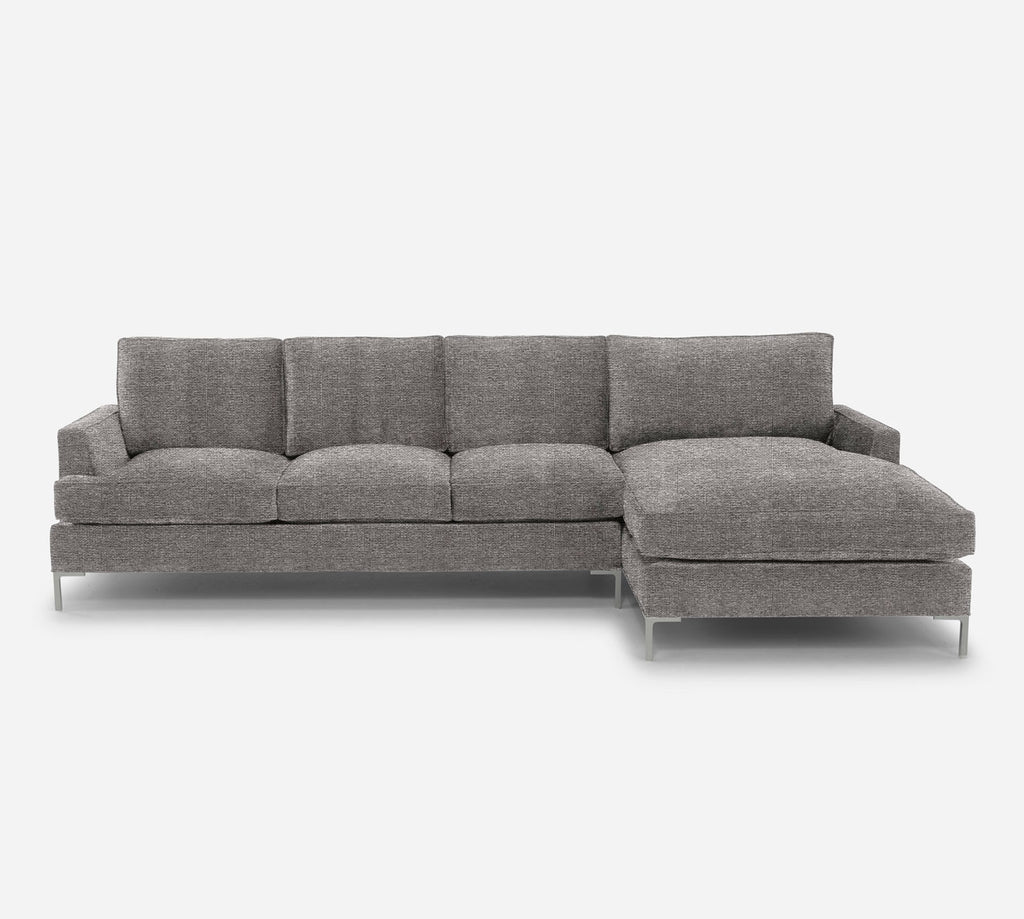 Soho LAF Sectional Sofa w/ Chaise - Stardust - Fossil