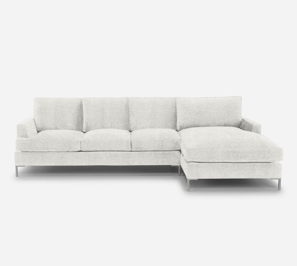 Soho LAF Sectional Sofa w/ Chaise - Stardust - Ivory