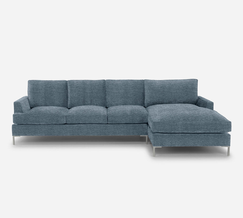 Soho LAF Sectional Sofa w/ Chaise - Stardust - Lapis