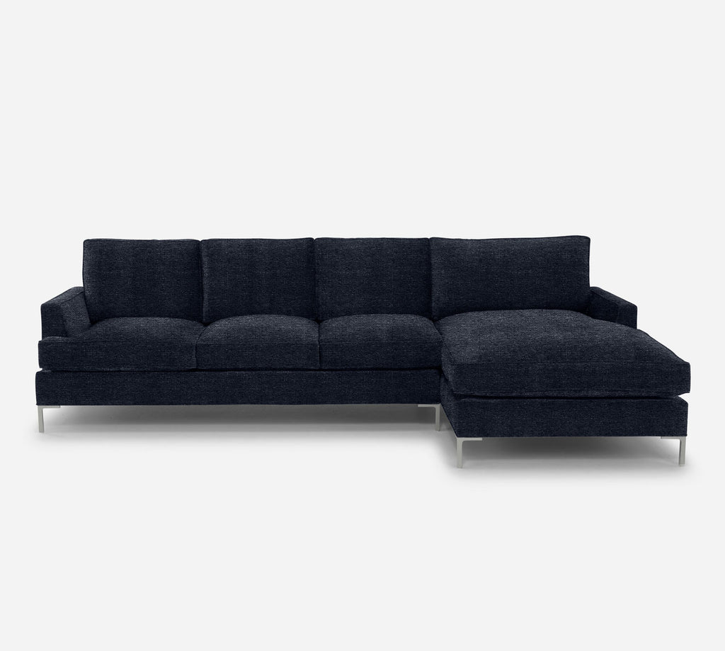 Soho LAF Sectional Sofa w/ Chaise - Stardust - Midnight