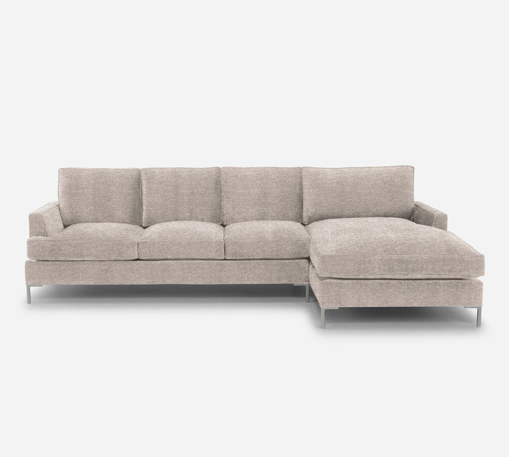 Soho LAF Sectional Sofa w/ Chaise - Stardust - Oatmeal
