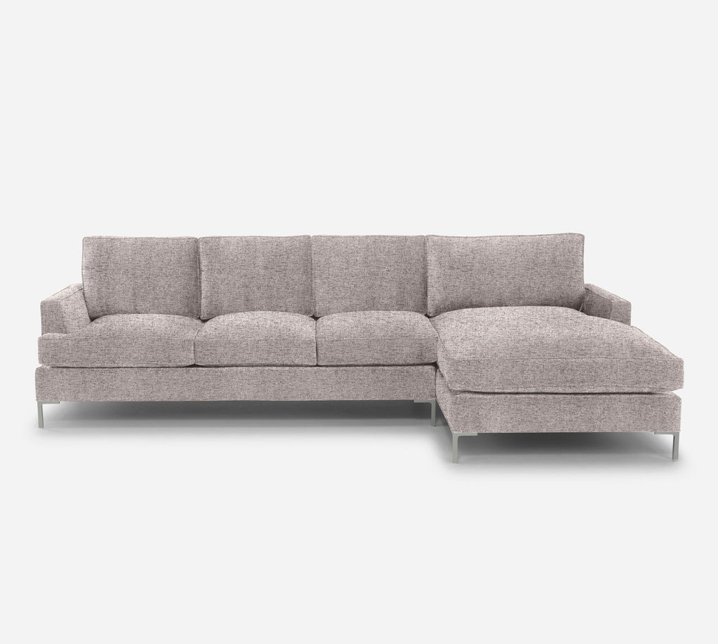 Soho LAF Sectional Sofa w/ Chaise - Theron - Oyster