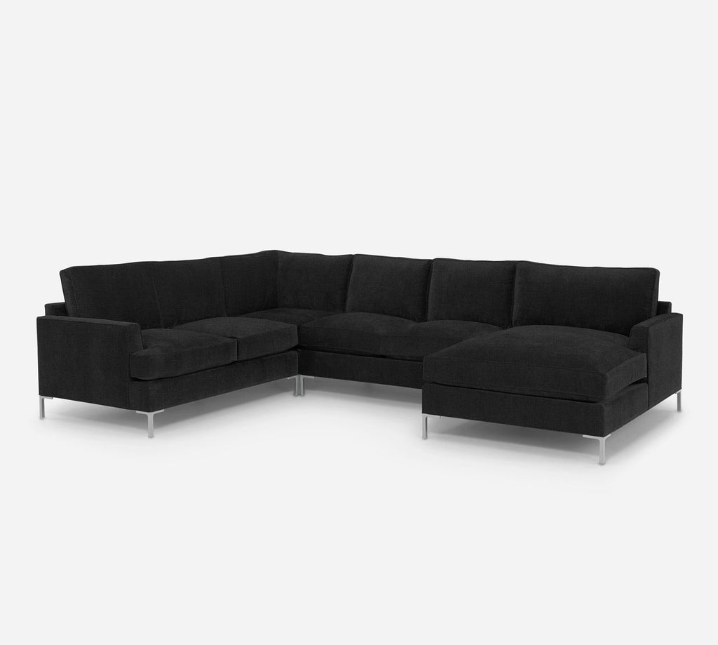 Soho RAF Chaise Corner Sectional - Heritage - Charcoal