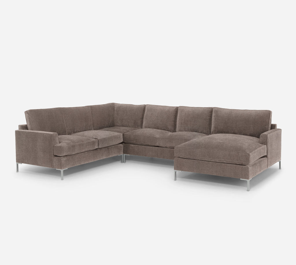 Soho RAF Chaise Corner Sectional - Heritage - Pebble
