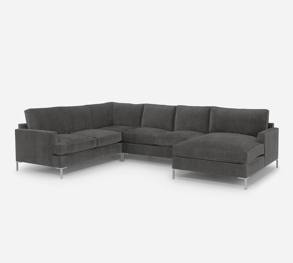 Soho RAF Chaise Corner Sectional - Kenley - Silversage