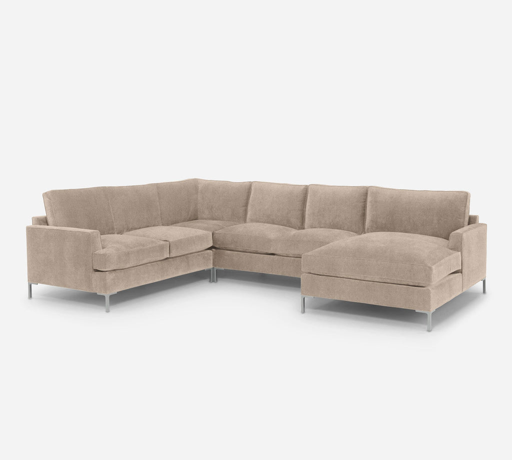Soho RAF Chaise Corner Sectional - Passion Suede - Camel