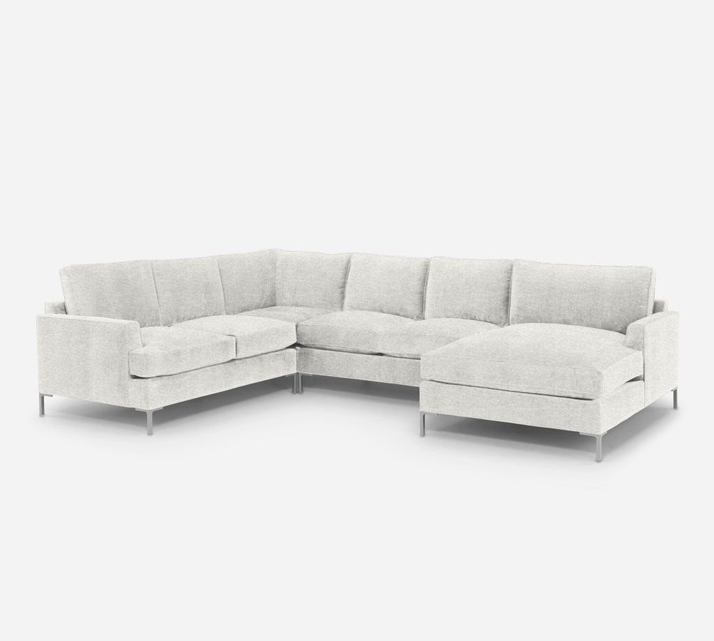 Soho RAF Chaise Corner Sectional - Stardust - Ivory