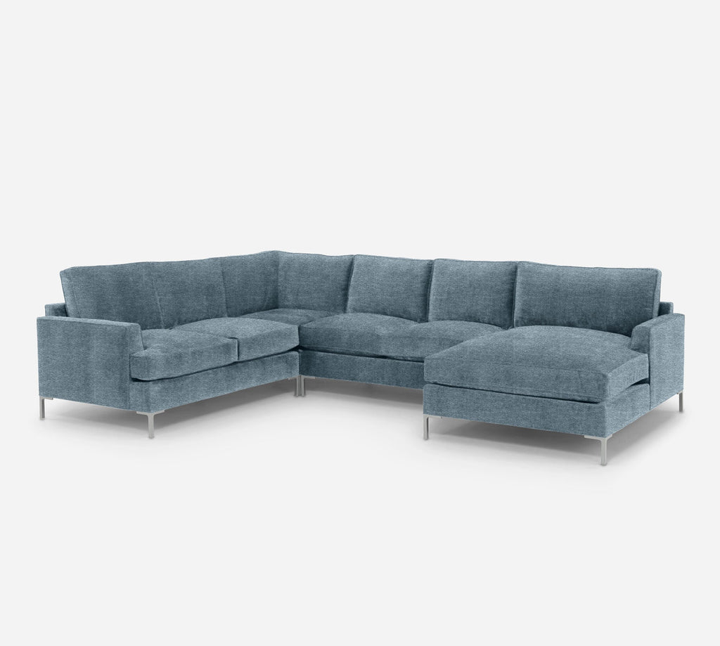 Soho RAF Chaise Corner Sectional - Stardust - Lapis