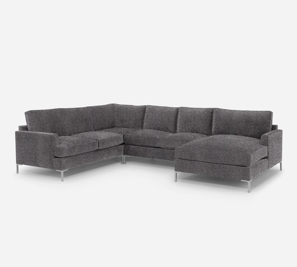 Soho RAF Chaise Corner Sectional - Theron - Concrete