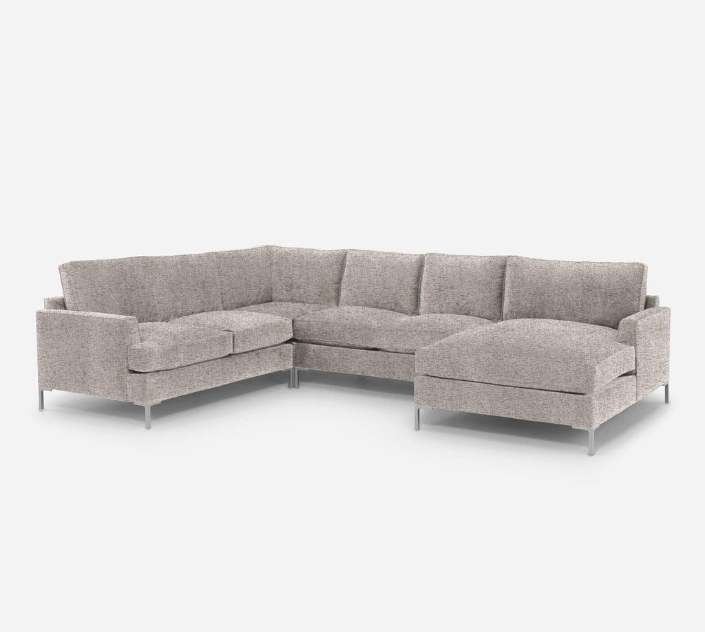 Soho RAF Chaise Corner Sectional - Theron - Oyster