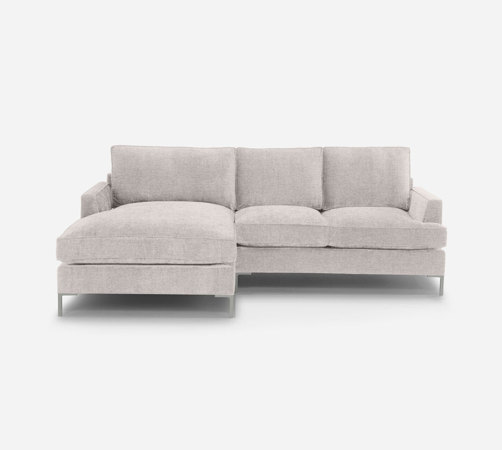 Soho RAF Sectional Apt Sofa w/ Chaise - Coastal - Espresso