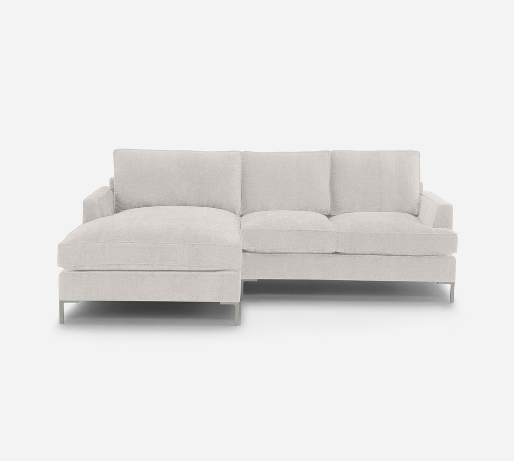 Soho RAF Sectional Apt Sofa w/ Chaise - Dawson - Platinum