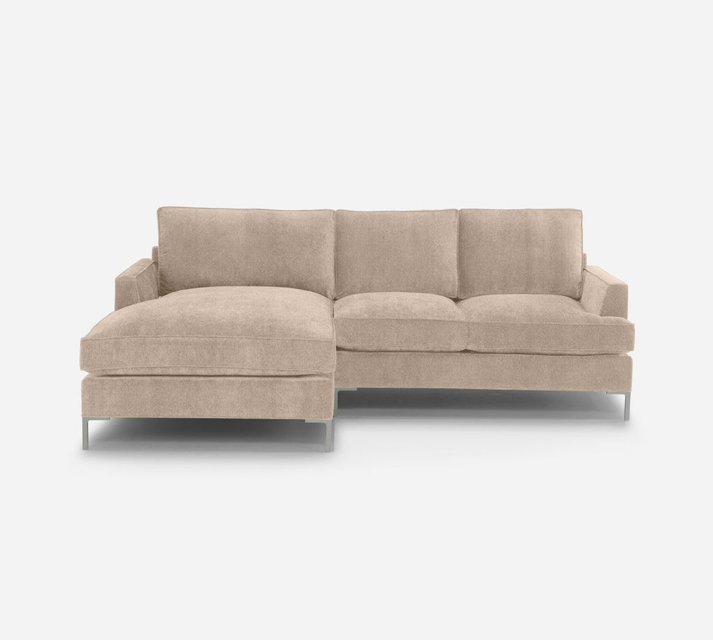 Soho RAF Sectional Apt Sofa w/ Chaise - Key Largo - Mocha