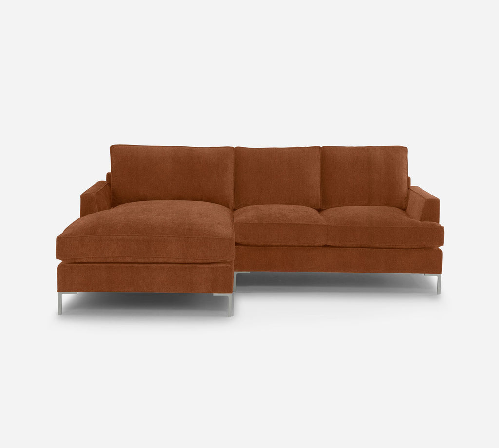 Soho RAF Sectional Apt Sofa w/ Chaise - Passion Suede - Camel