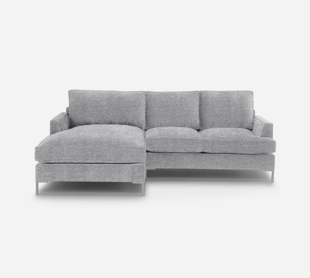 Soho RAF Sectional Apt Sofa w/ Chaise - Passion Suede - Oyster