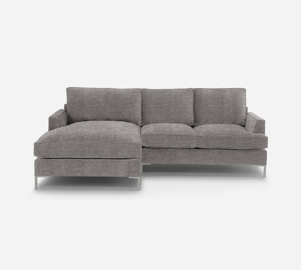 Soho RAF Sectional Apt Sofa w/ Chaise - Passion Suede - Rust