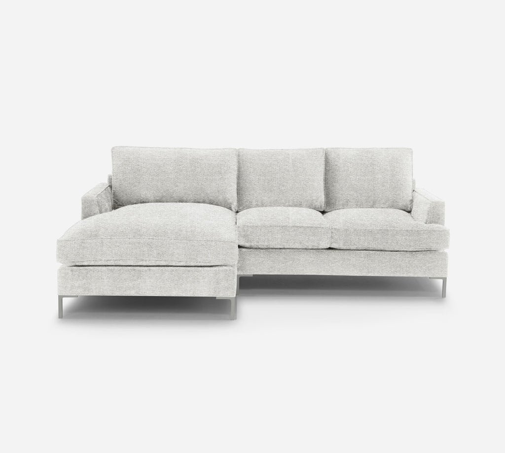 Soho RAF Sectional Apt Sofa w/ Chaise - Stardust - Charcoal