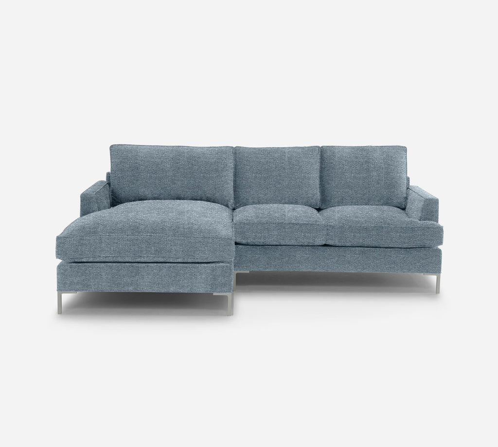 Soho RAF Sectional Apt Sofa w/ Chaise - Stardust - Domino