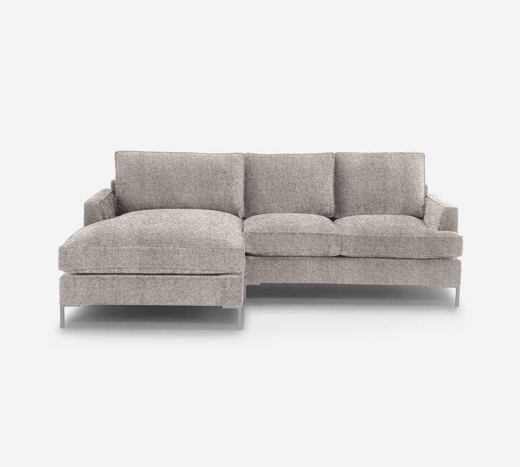 Soho RAF Sectional Apt Sofa w/ Chaise - Theron - Coffee