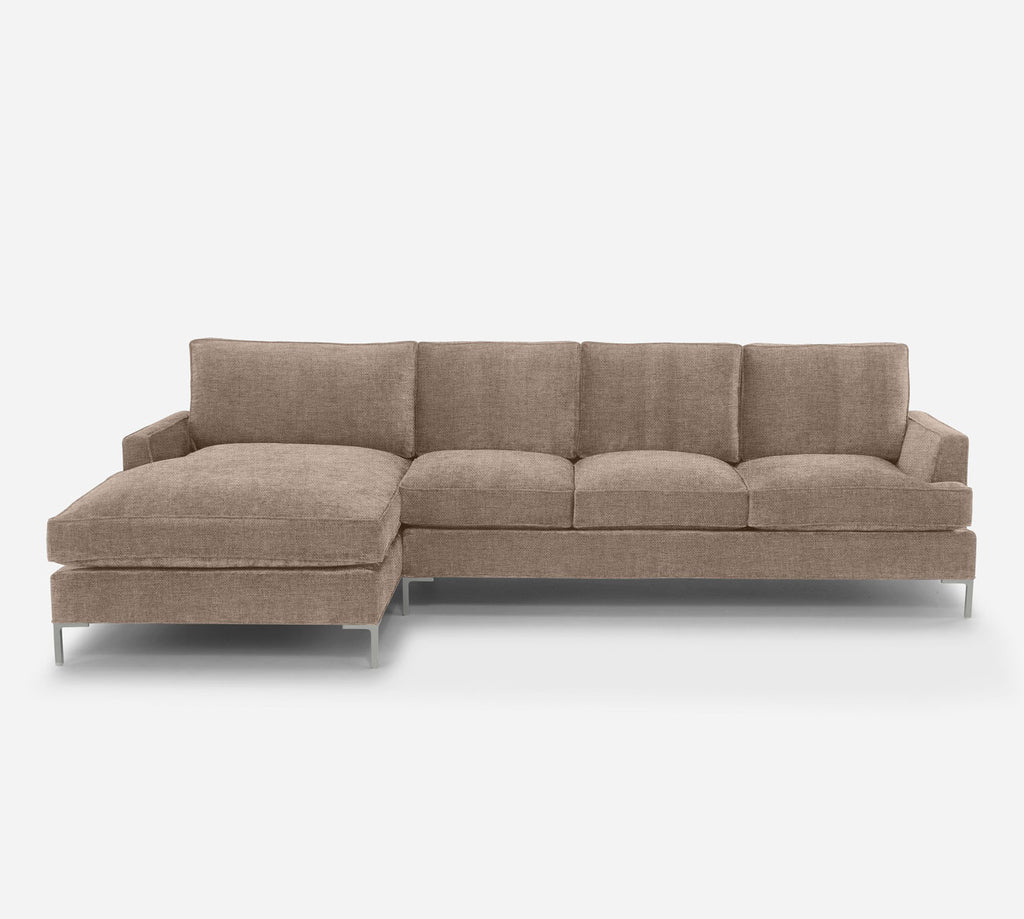 Soho RAF Sectional Sofa w/ Chaise - Coastal - Cashew