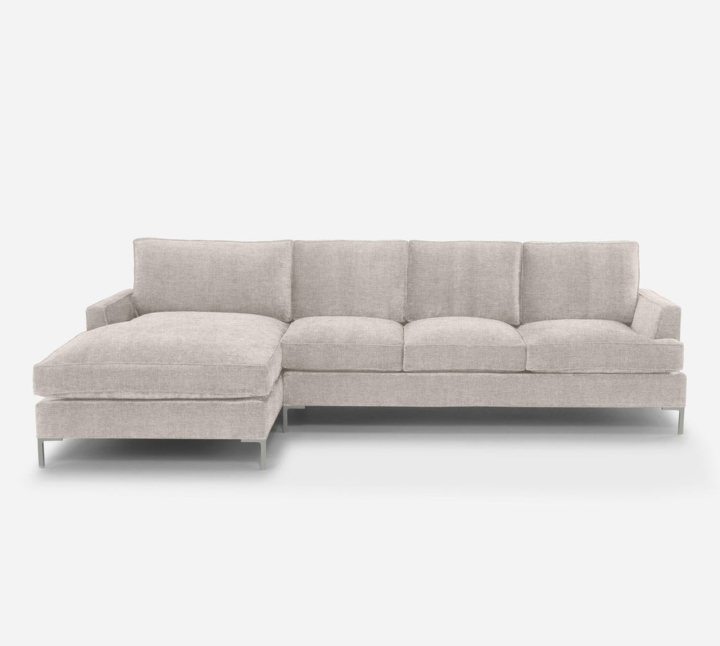 Soho RAF Sectional Sofa w/ Chaise - Coastal - Sand