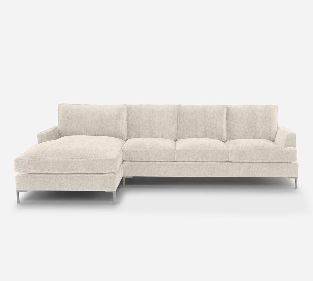 Soho RAF Sectional Sofa w/ Chaise - Kenley - Canvas
