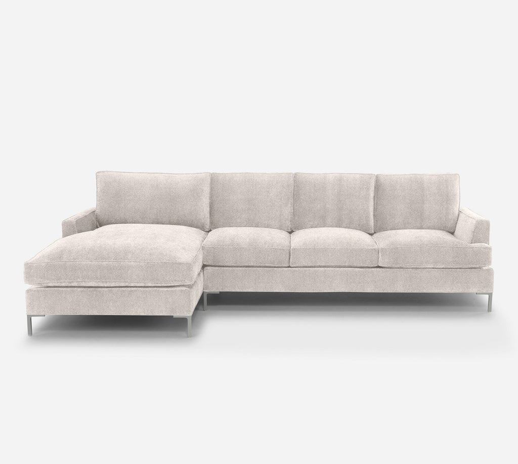 Soho RAF Sectional Sofa w/ Chaise - Passion Suede - Oyster
