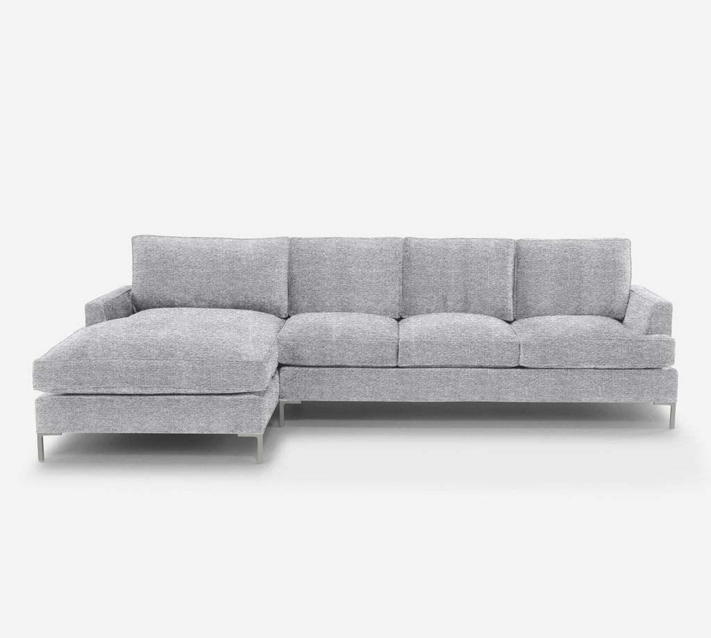 Soho RAF Sectional Sofa w/ Chaise - Stardust - Domino