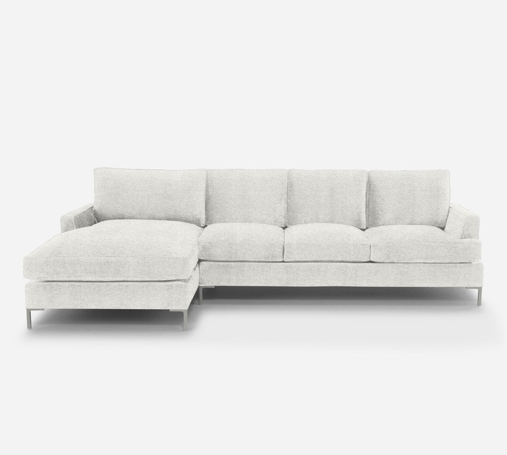 Soho RAF Sectional Sofa w/ Chaise - Stardust - Ivory