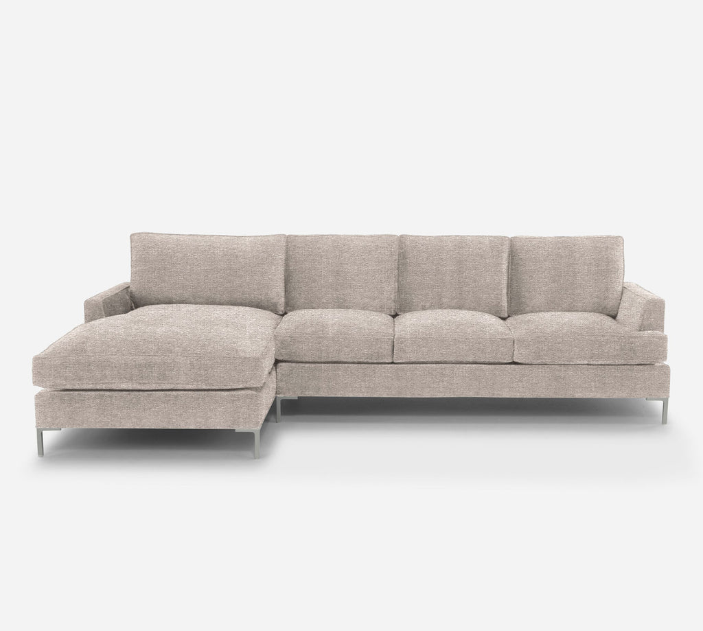 Soho RAF Sectional Sofa w/ Chaise - Stardust - Oatmeal
