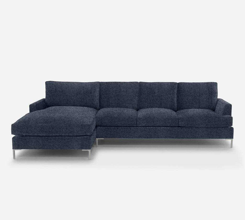 Soho RAF Sectional Sofa w/ Chaise - Theron - Baltic