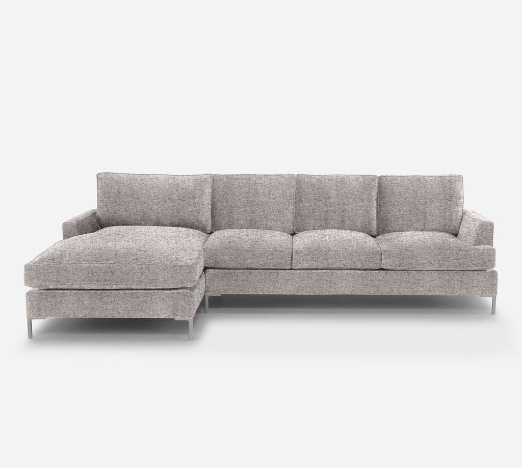 Soho RAF Sectional Sofa w/ Chaise - Theron - Oyster
