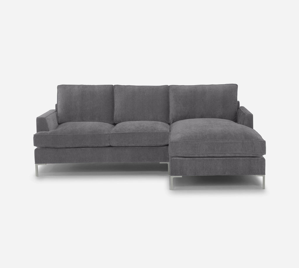 Soho Sofa with Chaise- RHF - Passion Suede - Charcoal