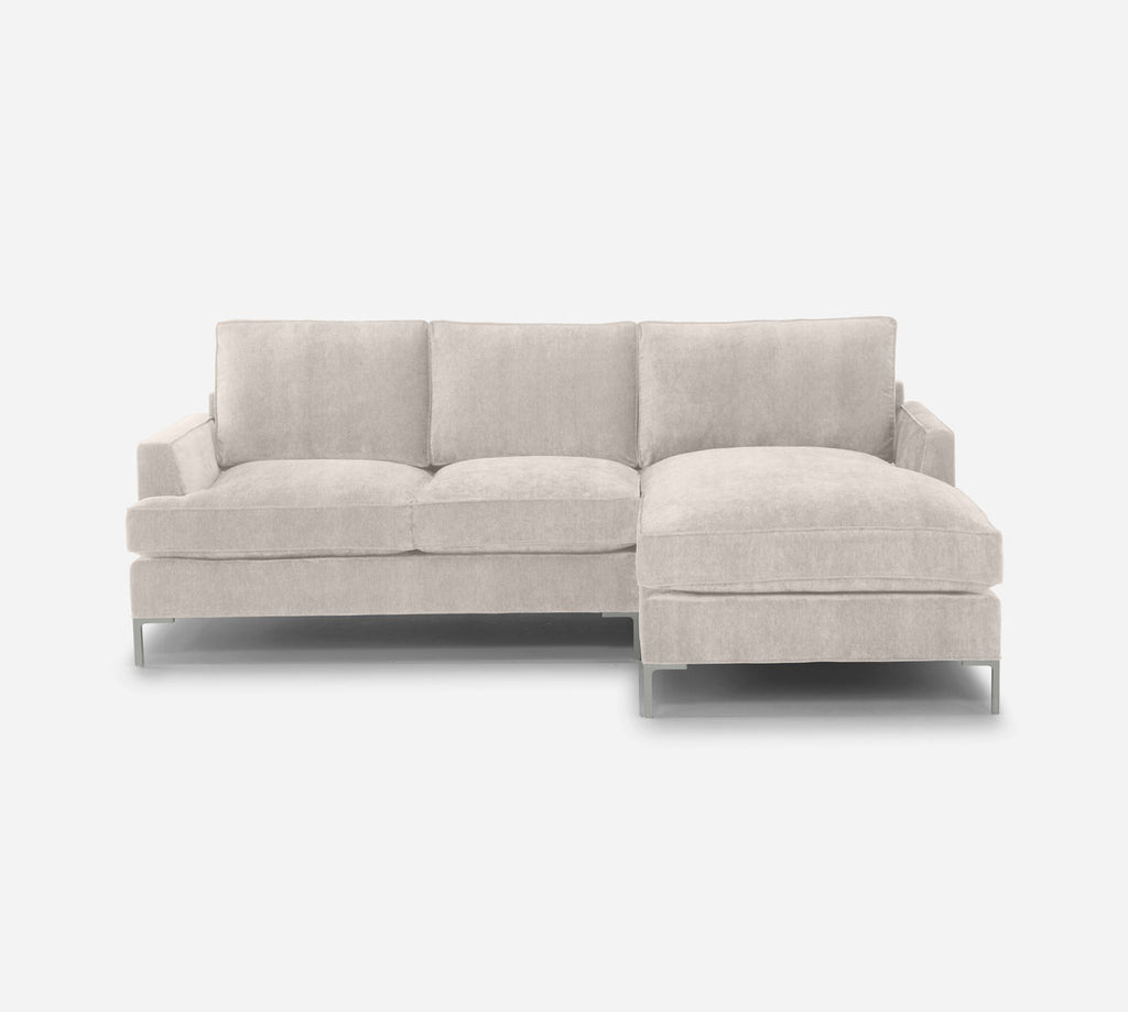 Soho Sofa with Chaise- RHF - Passion Suede - Oyster