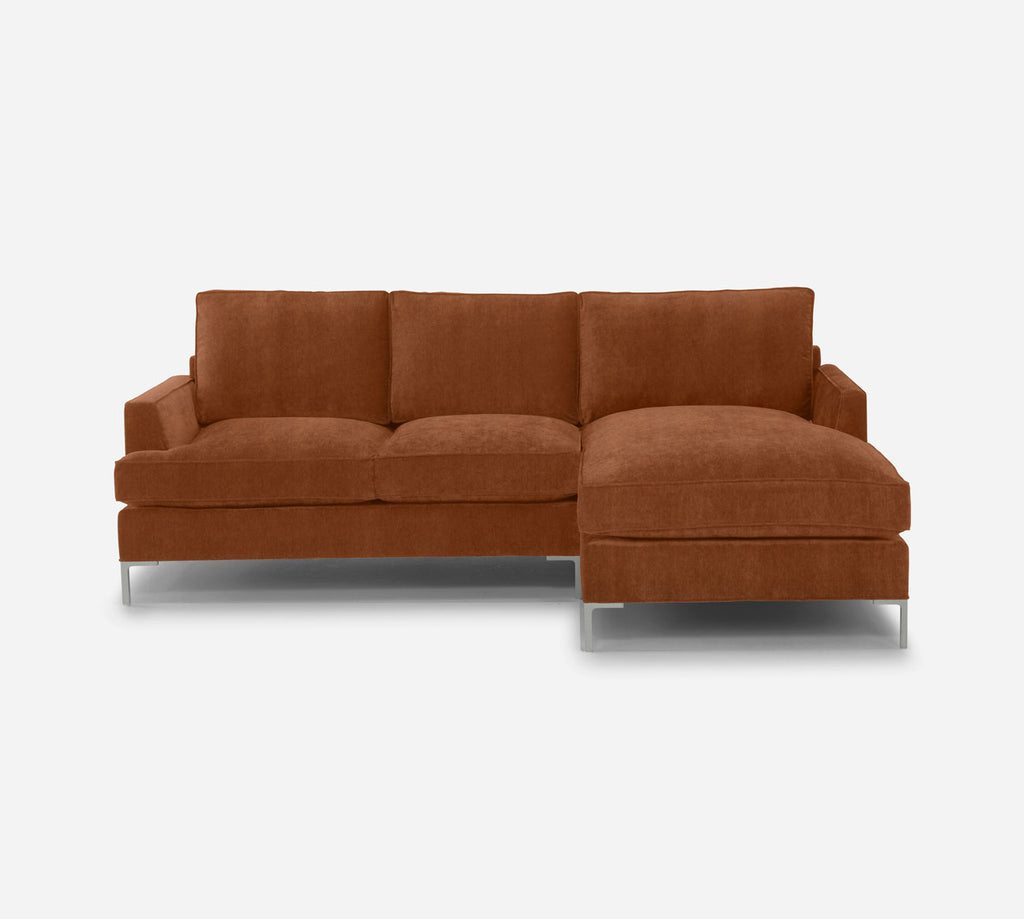 Soho Sofa with Chaise- RHF - Passion Suede - Rust